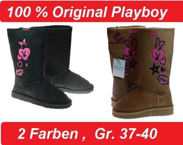 PLAYBOY Damen Winter Boots Stiefel Braun und Schwarz Gr. 38, 39, 40 f74a22b6a6
