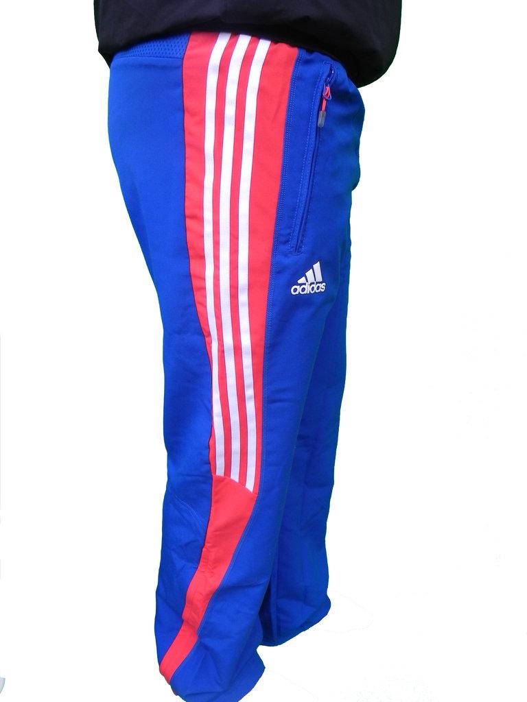 coupon code size 40 offer discounts Adidas Herren T8 FR Pres M Pant Trainingshose Blau Rot Gr. S, M